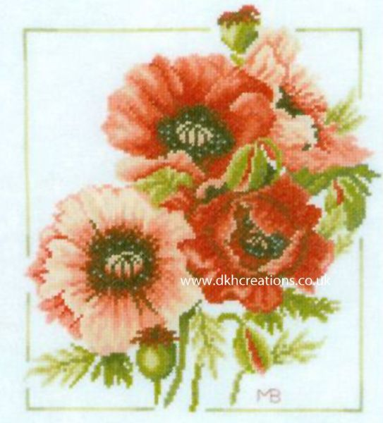 Anemone Bouquet Cross Stitch Kit